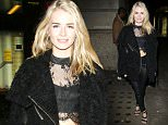 2.FEB.2016 - LONDON - UK **EXCLUSIVE ALL ROUND PICTURES** Lottie Moss looks striking in a pair of leather pants as she arrives at the Centrepoint Ultimate Pub Quiz in London! BYLINE MUST READ : XPOSUREPHOTOS.COM ***UK CLIENTS - PICTURES CONTAINING CHILDREN PLEASE PIXELATE FACE PRIOR TO PUBLICATION *** **UK CLIENTS MUST CALL PRIOR TO TV OR ONLINE USAGE PLEASE TELEPHONE  44 208 344 2007 ***