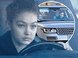 Monday, February 1, 2016 - Best friends Kendall Jenner and Gigi Hadid  driving around Beverly Hills im Gigi's Range Rover