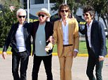 British Rolling Stones' (L-R) Charlie Watts, Keith Richards, Mick Jagger and Ronnie Wood pose as they arrive to the National Stadium in Santiago on February 1, 2016, for a sound test. AFP PHOTO/JORGE AMENGUALJORGE AMENGUAL/AFP/Getty Images