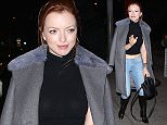 1.FEB.2016 - West Hollywood - USA ***AVAILABLE FOR UK AND GERMANY SALE ONLY *** Francesca Eastwood strikes a pose as she arrives for dinner at Craig's Restaurant in West Hollywood. The 22-year-old daughter of Clint Eastwood showed off her bare midriff in a black top, jeans and matching black boots. BYLINE MUST READ: AKM-GSI-XPOSURE ***UK CLIENTS - PICTURES CONTAINING CHILDREN PLEASE PIXELATE FACE PRIOR TO PUBLICATION *** *UK CLIENTS MUST CALL PRIOR TO TV OR ONLINE USAGE PLEASE TELEPHONE 0208 344 2007*