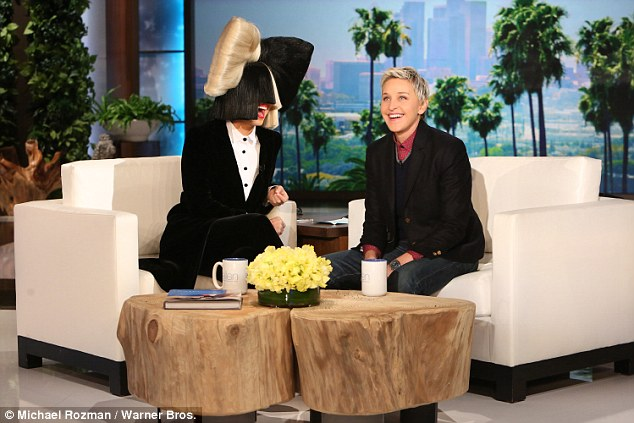 Recycled hits: Sia spoke to Ellen DeGeneres on Tuesday about her new album, This Is Acting, which is made up of tracks she wrote for other people