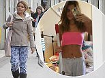PHOTO EXCLUSIVE!! FEE NEWSPAPER PRINT  £400 THE SET ONLINE  £150 THE SET gemma Oaten  or should i say Gemma OATen goes to her local mcDonalds in South London wearing her pyjamas to get a coffee and a Pot of OATS Porridge ! 3-2-16