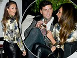 LONDON, UNITED KINGDOM - FEBRUARY 01: Megan McKenna, Danielle Armstrong and Jeremy McConnell seen at Sheesh Restaurant on February 01, 2016 In London, England. PHOTOGRAPH BY Eagle Lee / Barcroft Media UK Office, London. T +44 845 370 2233 W www.barcroftmedia.com USA Office, New York City. T +1 212 796 2458 W www.barcroftusa.com Indian Office, Delhi. T +91 11 4053 2429 W www.barcroftindia.com