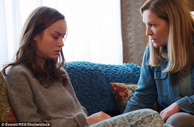 Oscar contender: The 26-year-old says getting physically in shape also helped her shift her mindset; here she is seen with Joan Allen
