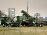 A PAC-3 missile launcher is deployed on the grounds of the defence ministry in Tokyo on January 29, 2016