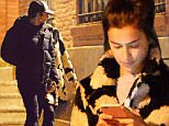 **DAILY MAIL ONLINE USE ONLY**\nEXCLUSIVE TO INF.\nFebruary 1, 2016: Bradley Cooper and girlfriend Irina Shayk are seen holding hands tonight after having dinner together in New York City, amidst breakup rumors.  Irina is seen texting on her phone and later met up with Bradley and went back to her apartment.\nMandatory Credit: Elder Ordonez/INFphoto.com Ref: infusny-160