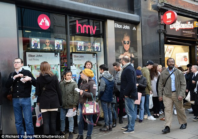 Fan-tastic! Hordes of music lovers queued for hours in HMV Oxford Street to meet their idol