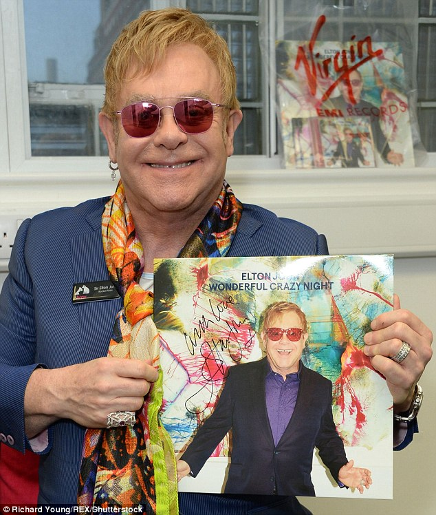 Still at it: Elton is still producing critically-acclaimed, hit records and has a devout fan following