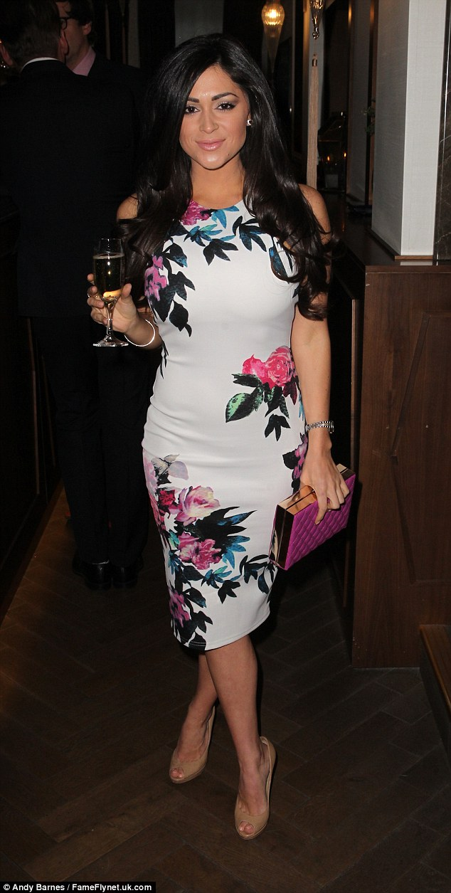 Toasting a Tuesday: Casey stepped out for a few drinks at FUBAR Rado's London bash on Tuesday night