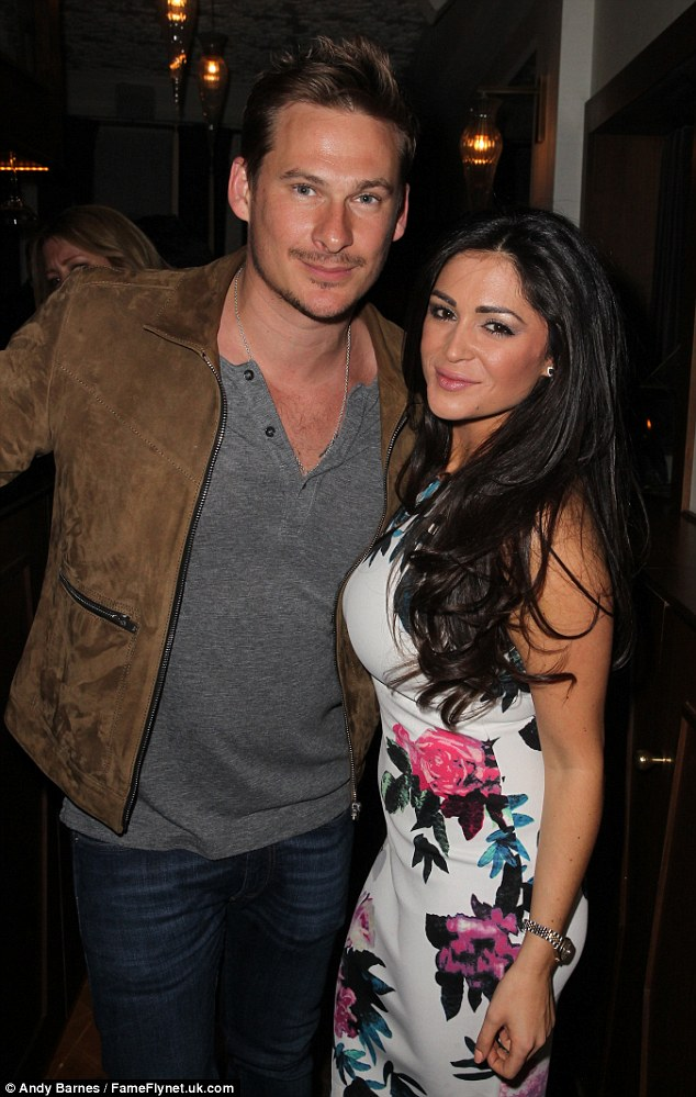 No hard feelings: Casey Batchelor was happy to catch up with her ex Lee Ryan atGIGI's in London at a FUBAR radio party on Tuesday