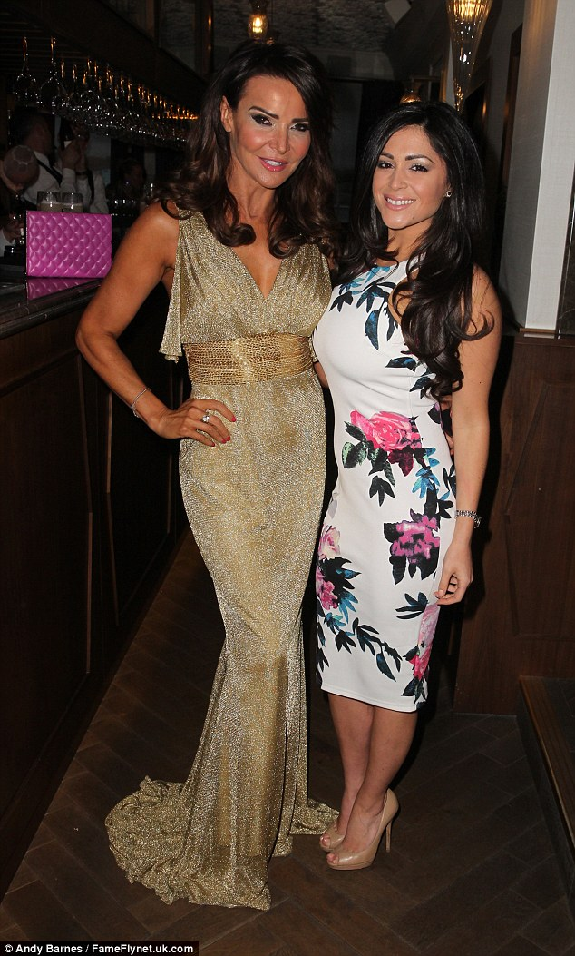 Celebrations: Casey was partying with FUBAR Radio's Hot Gossip presenter Lizzie Cundy