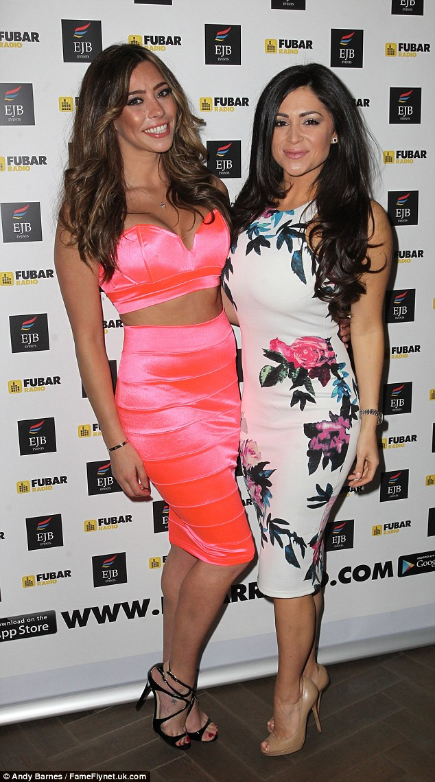 Party pals: Casey was also seen with former TOWIE star Pascal Craymer who stopped by for the event