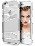 iPhone 6 Case, LoHi® [3D Diamond Protection] iPhone 6/6s 4.7'' Premium Hard PC Transparent Bumper Case (White)