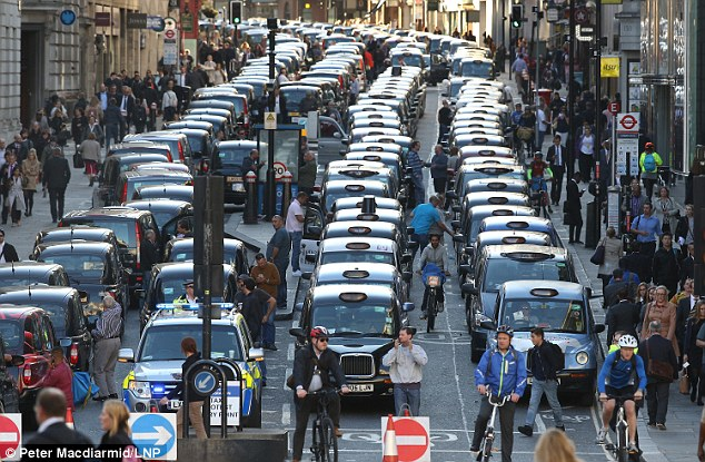 Yesterday hundreds of black cab drivers brought Central London to a halt in protest against TfL's decision to licence hundreds of new minicabs every week and the growth of mobile phone apps such as Uber