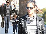 Picture Shows: Alessandra Ambrosio, Noah Mazur  February 01, 2016    Model Alessandra Ambrosio and her son Noah are spotted out for lunch in Brentwood, California. Alessandra tried to carry Noah but he wanted to walk.     Non-Exclusive  UK RIGHTS ONLY    Pictures by : FameFlynet UK � 2016  Tel : +44 (0)20 3551 5049  Email : info@fameflynet.uk.com