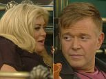 ` ****Ruckas Videograbs****  (01322) 861777\n*IMPORTANT* Please credit Channel 5 for this picture.\n03/02/16\nCelebrity Big Brother\nDAY 30\nGrabs from the 9pm show in the CBB house\nOffice  (UK)  : 01322 861777\nMobile (UK)  : 07742 164 106\n**IMPORTANT - PLEASE READ** The video grabs supplied by Ruckas Pictures always remain the copyright of the programme makers, we provide a service to purely capture and supply the images to the client, securing the copyright of the images will always remain the responsibility of the publisher at all times.\nStandard terms, conditions & minimum fees apply to our videograbs unless varied by agreement prior to publication.