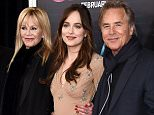 """NEW YORK, NY - FEBRUARY 03:  (L-R)  Actors Jesse Johnson, Melanie Griffith, Dakota Johnson, and Don Johnson attend the New York premiere of """"How To Be Single"""" at the NYU Skirball Center on February 3, 2016 in New York City.  (Photo by Dimitrios Kambouris/Getty Images)"""