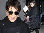 Kris Jenner dressed up for dinner at West Hollywood hotspot Craig's.  The style maven woreblack, with sunglasses, on Wednesday, February 3, 2016  X17online.com