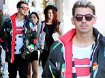 Joe Jonas has lunch with a group of girls and his band DNCE at Zinque in West Hollywood\n\nPictured: Joe Jonas\nRef: SPL1220063  030216  \nPicture by: LA Photo Lab / Splash News\n\nSplash News and Pictures\nLos Angeles: 310-821-2666\nNew York: 212-619-2666\nLondon: 870-934-2666\nphotodesk@splashnews.com\n