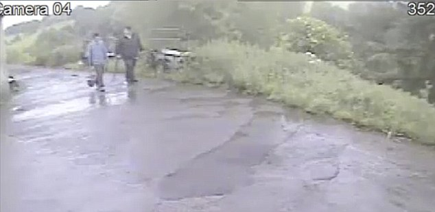 Planning: They were caught on camera with shovels on North House farm in Lytchett Matravers, near Poole