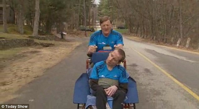 A life-size bronze statue of Dick and Rick Hoyt will be unveiled April 8 at 10:30 a.m. in front of the Center Elementary School, near the starting point of the Boston Marathon