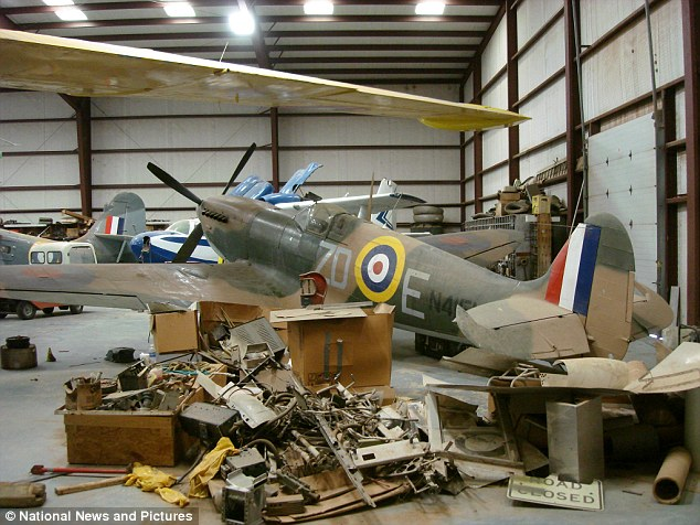 The aircraft last flew in 1973 and has its Operational Record Book from the RAF detailing its exact history