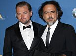 Mandatory Credit: Photo by Jim Smeal/BEI/BEI/Shutterstock (5583168j) Leonardo DiCaprio and Alejandro Gonzalez Inarritu 68th DGA Awards, Press Room, Los Angeles, America - 06 Feb 2016