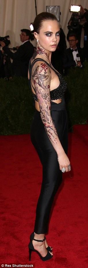 Smouldering: The star is a tattoo enthusiast, who has an ever-growing collection