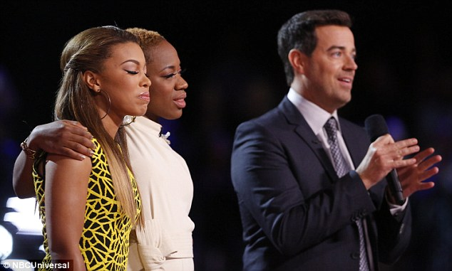 Tension mounting: Carson Daly held out announcing the results as tension mounted for India and Kimberly