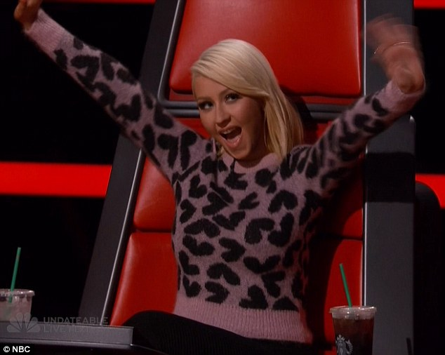 Showing support: Christina cheered on her remaining singers