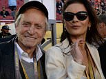 Actors Michael Douglas and Catherine Zeta-Jones arrive at Levi Stadium for Super Bowl 50 between the Carolina Panthers and the Denver Broncos in Santa Clara, California, February 7, 2016. / AFP / TIMOTHY A. CLARYTIMOTHY A. CLARY/AFP/Getty Images