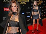 """SAN FRANCISCO, CA - FEBRUARY 06:  Alessandra Ambrosio arrives to the 13th annual """"Leather & Laces"""" mega party at Super Bowl 50 - Night 2 at Metreon on February 6, 2016 in San Francisco, California.  (Photo by Randy Shropshire/Getty Images)"""