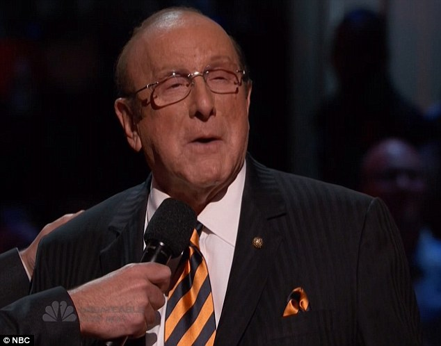 Big night: Clive Davis appeared on the show to introduce season three