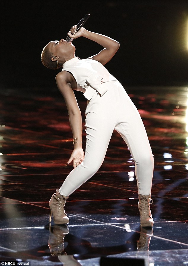 Nailed it: The singer gave it her all in what turned out to be her last performance on the show