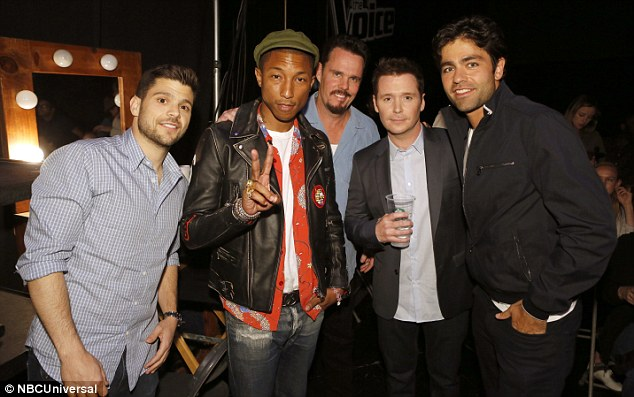 Cast photo: Pharrell has a cameo in the Entourage movie and got together with the film's stars