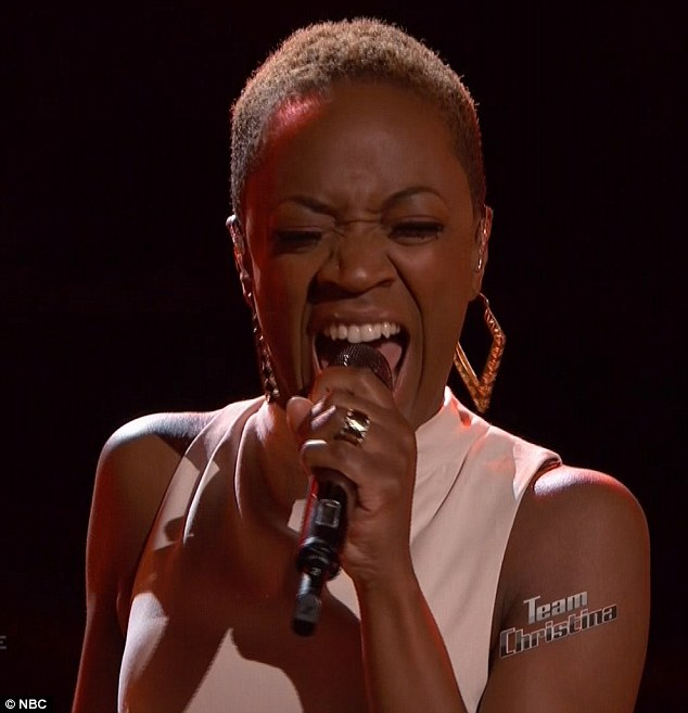 Meant for her: Kimberly nailed her version of the rocking song