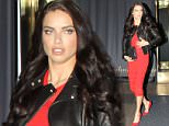*EXCLUSIVE* San Francisco, CA - Adriana Lima steps out of the Hilton Hotel during Super Bowl 50 festivities. The Brazilian supermodel looked amazing in a black leather jacket over a red dress and matching red high heels.\nAKM-GSI         February 7, 2016\nTo License These Photos, Please Contact :\nSteve Ginsburg\n(310) 505-8447\n(323) 423-9397\nsteve@akmgsi.com\nsales@akmgsi.com\nor\nMaria Buda\n(917) 242-1505\nmbuda@akmgsi.com\nginsburgspalyinc@gmail.com