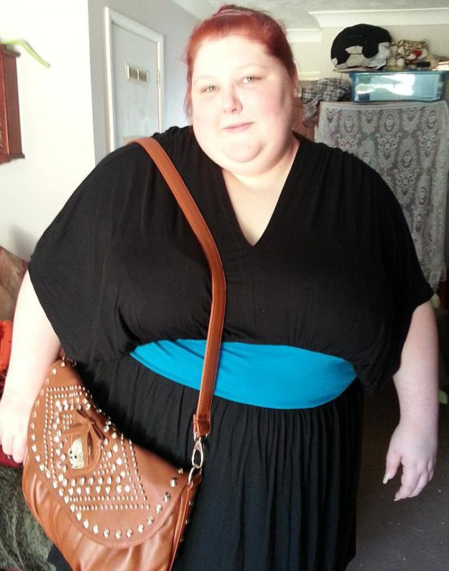 At the age of 20, Rochelle (pictured) weighed 26 stone but her relationship with her mother was beginning to improve. However she was diagnosed with sleep apnoea which can stop her breathing for 10 seconds a night