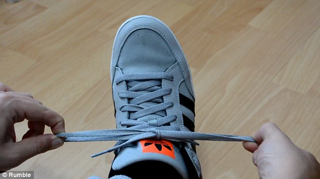 Thanks to practice, Ian says he can now tie his shoelaces in about a third of the time of a conventional knot