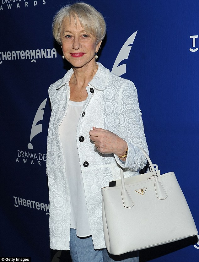 Classy lady: Dame Helen  attends the 2015 Drama Desk Awards Nominee Reception at New World Stages  in New York on Wednesday