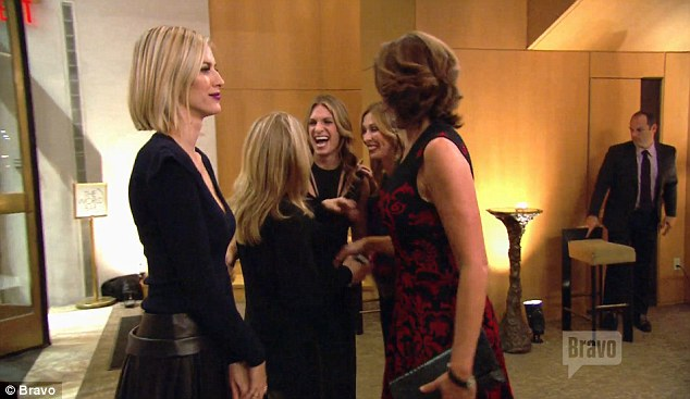Sharing a laugh: The housewives continued to tease Ramona following her athletic display, with one woman shouting out: 'Ramona silicone!'