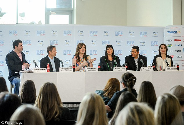 Introducing the event: Dennis Dembia of Roger & Cowan, Trevor Drinkwater (Co-Founder of BFF & CEO of Arc Entertainment), Geena, Wanda Young (Walmart), Louis Greth (Walmart) and Stuart Kronauge (The Coca-Cola Company) formed a strong line-up
