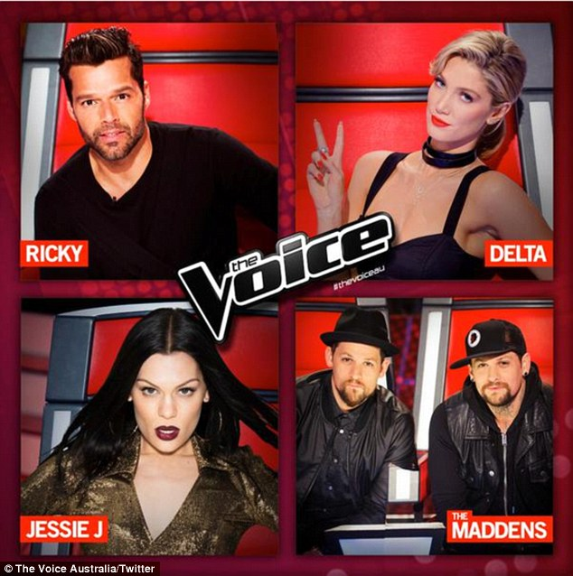 The Voice 2015: Ricky Martin, Delta Goodrem, The Madden Brothers - Joel and Benji - and the former Voice UK coach Jessie J will judge this season's The Voice Australia