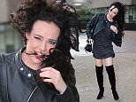 *** Fee of ?150 applies for subscription clients to use images before 22.00 on 090216 ***\nEXCLUSIVE ALLROUNDERStephanie Davis seen leaving the ITV studios on a very windy day in London.\nFeaturing: Stephanie Davis\nWhere: London, United Kingdom\nWhen: 08 Feb 2016\nCredit: Rocky/WENN.com