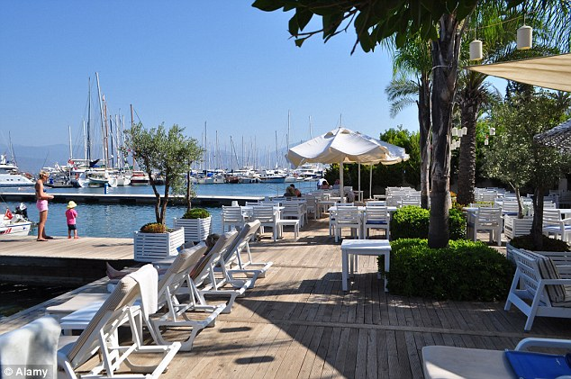 Russell Crowe stayed at the Yacht Classic hotel in Fethiye, in one of its water villas