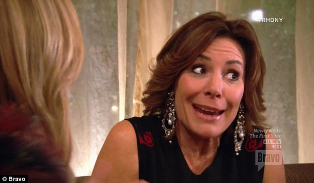 In a bad place: Luann said she felt uncomfortable because her niece was upset, commenting: 'If it was any other guy, it would be fine, but it's Adam and it's very close to home'