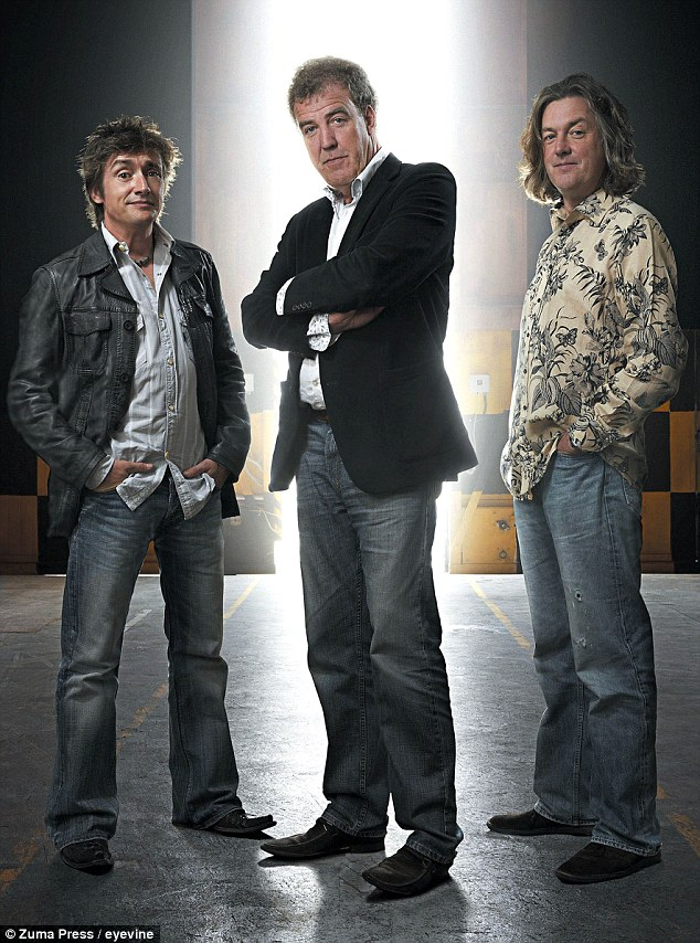 Show of solidarity: Clarkson's Top Gear co-stars Richard Hammond and James May are believed to have also left the hit show