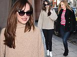 Dakota Johnson & Leslie Mann are seen leaving claridges and arriving at a photo studio in london.  Pictured: Dakota Johnson , Leslie Mann Ref: SPL1222510  090216   Picture by: Neil Warner / Splash News  Splash News and Pictures Los Angeles: 310-821-2666 New York: 212-619-2666 London: 870-934-2666 photodesk@splashnews.com