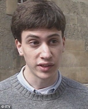 New film: Labour leader Ed Miliband – who called himself 'Ted' at university – led a 'rent strike' when he was a student 24 years ago, archive footage revealed today