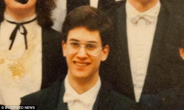Labour leader in training: This is Ed Miliband in white bow tie and gown while studying at Oxford - probably in his first term in 1989